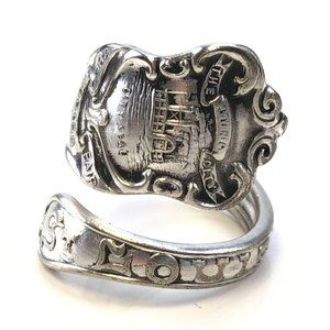 Vintage St Louis silverplate bypass spoon ring